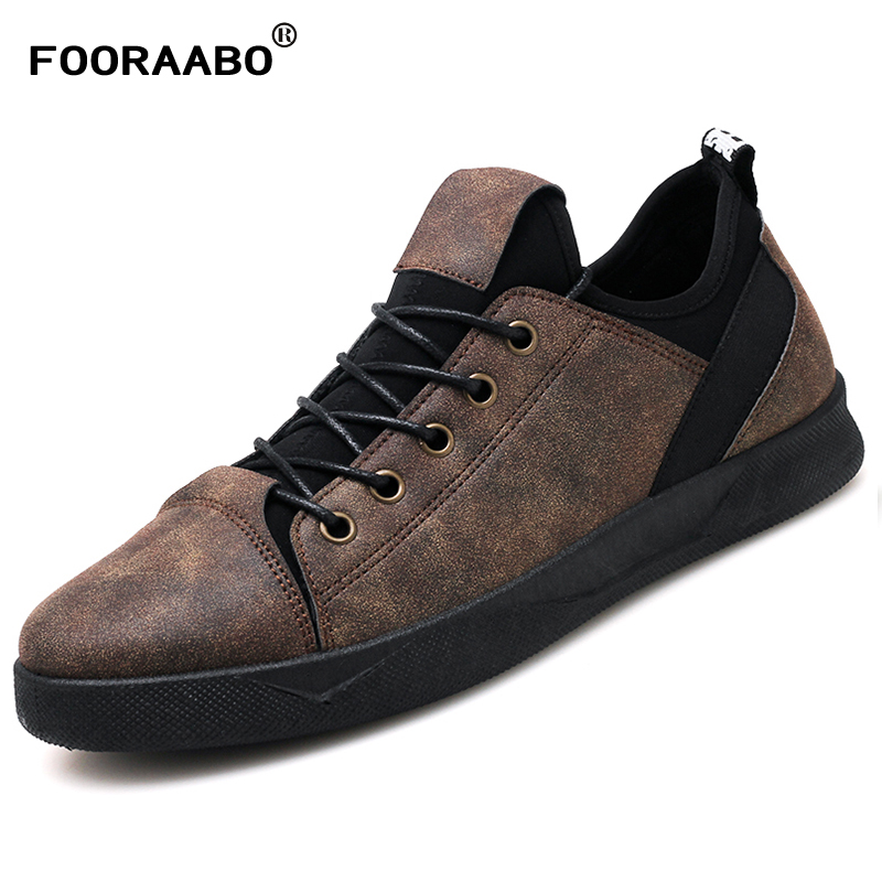 2018 New Fashion Men Casual Shoes Leather Spring Slip On Black Male Designer Shoes Autumn Non-slip Mens Shoes Sneakers Flats hot sales new fashion dandelion spikes mens loafers high quality suede black slip on sliver rivet flats shoes mens casual shoes