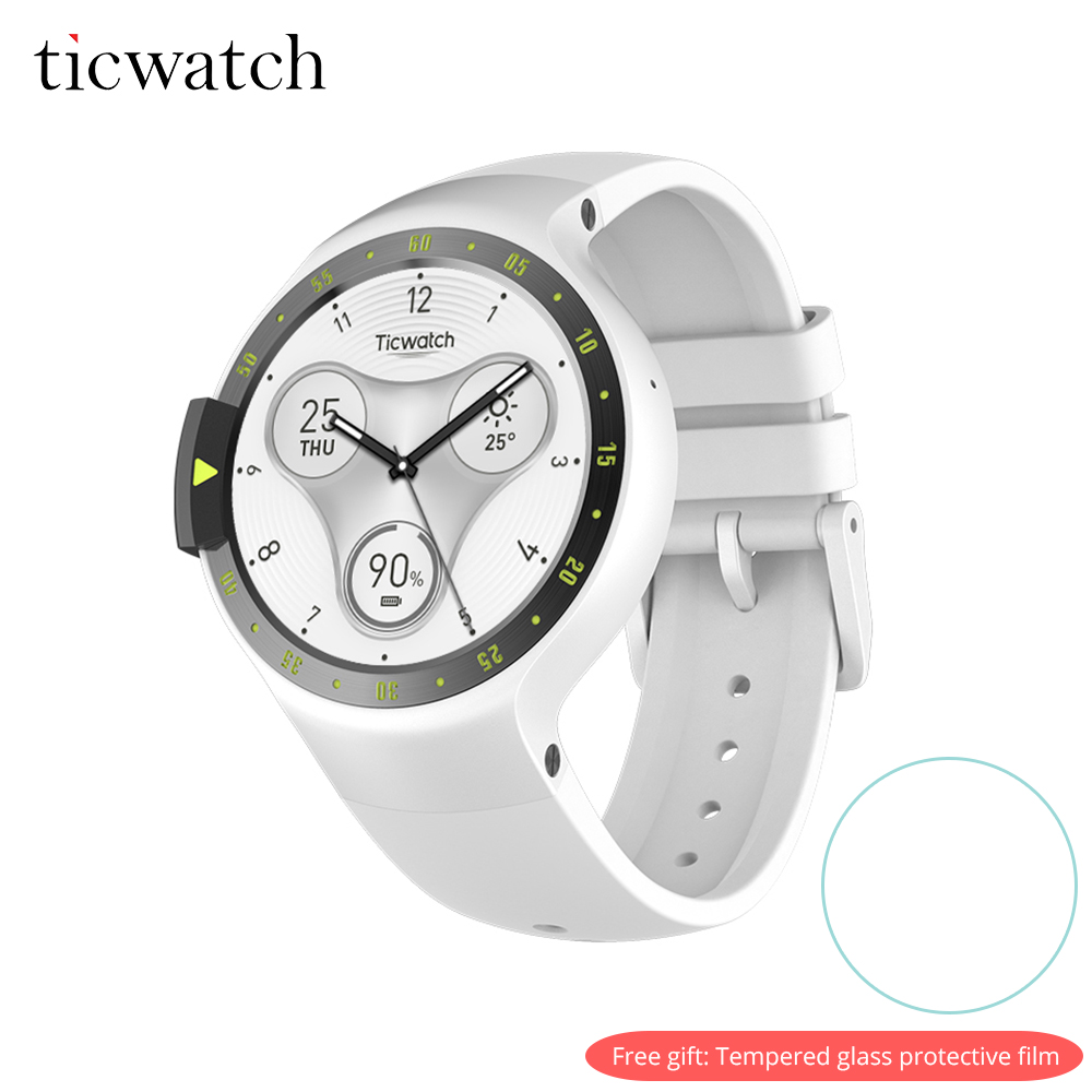 Ticwatch S смарт-часы Bluetooth 4,1 gps сердечного ритма IP67 Водонепроницаемость Android Wear для Android/iOS подарок-защитная пленка
