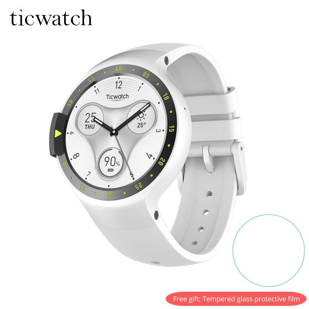 Ticwatch S Montre Smart Watch Bluetooth 4.1 GPS Coeur Taux IP67 Résistant À L'eau Android Porter pour Android/iOS Livraison Cadeau -de protection Film