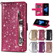 Bling Glitter Case For iPhone 6 6s Plus 7 8 Leather Wallet Phone Flip Cover 11 Pro Max XR XS Capa