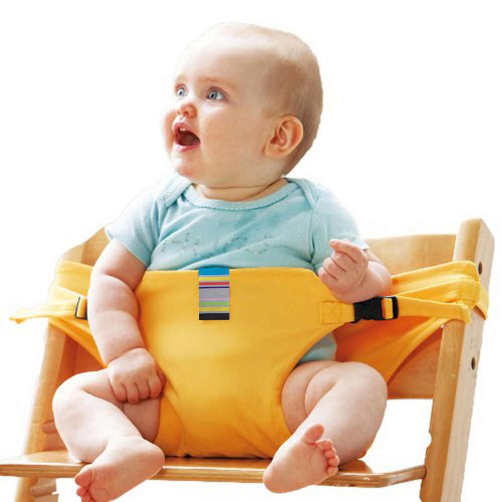 Brand Portable Baby Kids Chair Child High Chairs Seat Belts Safety Belt Folding Dining Feeding Baby