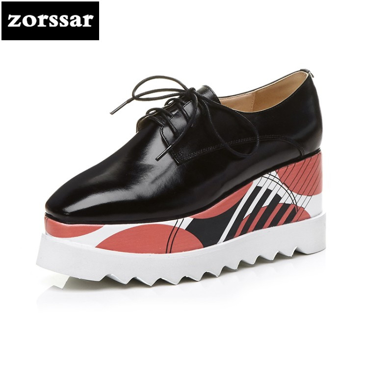 {Zorssar} Brand 2018 New womens Creepers shoes heels Casual Wedges High heels pumps shoes fashion leather women Platform shoes zorssar brand 2018 new womens creepers shoes heels casual wedges high heels pumps shoes fashion suede women platform shoes