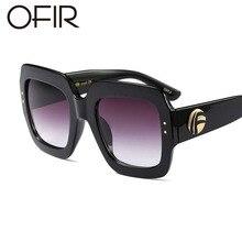 OFIR 2018 Newest Oversized Square Sunglasses Women Luxury Brand Designer Red Green Sun Glasses Female Vintage Shades Eyewear