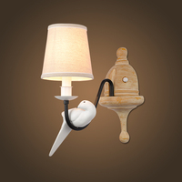 Free Shipping Retro Vintage Wall Lamp 1 Light Bird Resin Material Metal Painting Wall Sconces For