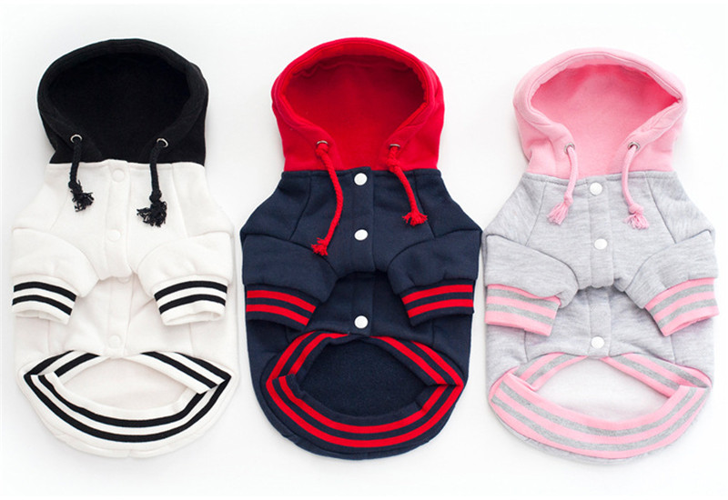 French Bulldog Clothes Dog Hoodies Pet Clothes with Pocket Dog Coat Jackets Cotton Hoodie Sportswear Warm Pet Clothing Costume6