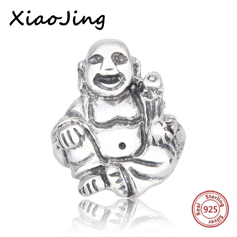 New arrival 100% 925 Sterling Silver Maitreya Buddha charms DIY Beads Fit Original Pandora Bracelets Jewelry Making women Gifts
