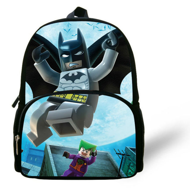 2014 Hot Batman Backpack for kids infant Lego Batman Cartoon Bag Gifts  Little boy Girl Lego Bag nursery school student Baby 520118c62a0ec