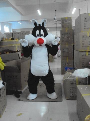 Sylvester Cat Plush Mascot Costume Adult Size Fancy Dress Suit Free Shipping
