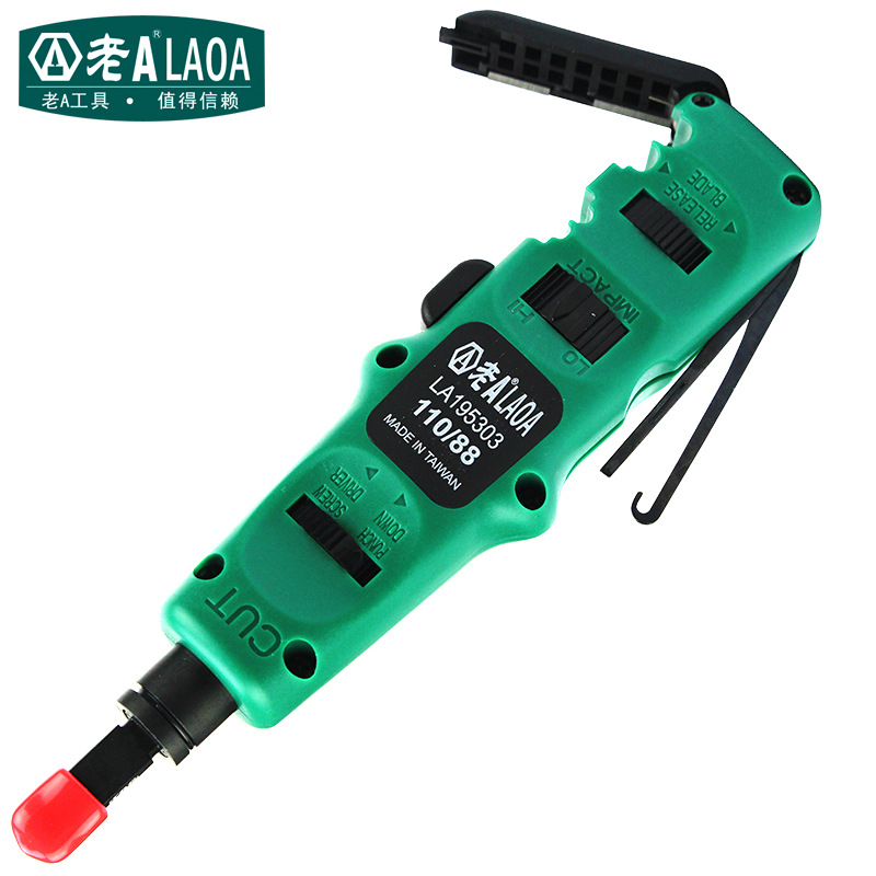 цена LAOA 4 in 1 Multi Function Module Network punching With Wire Insertion Cutting Function Screwdriver LA195303
