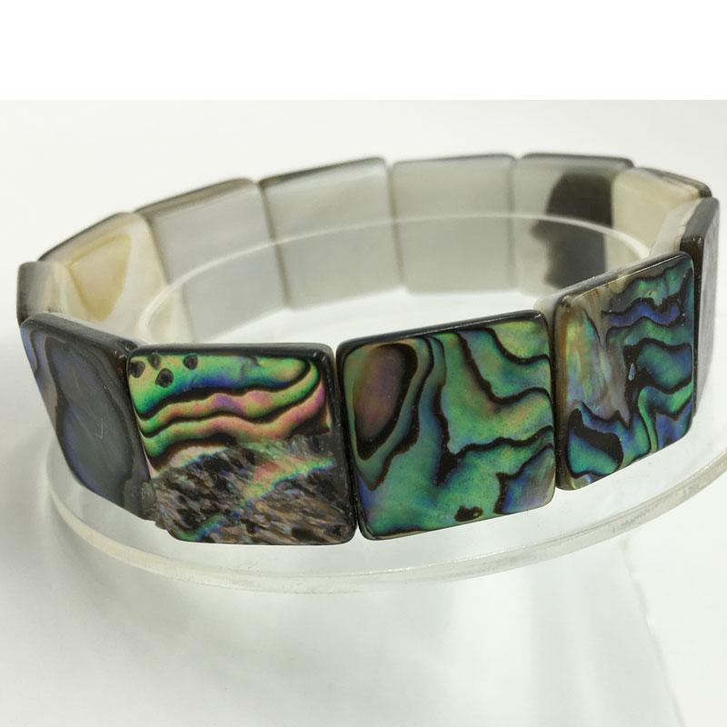 Awesome New Zealand Abalone Shell Bracelet (2 HOT 2 RESIST) 1