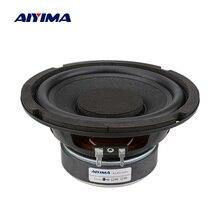 AIYIMA 6,5 дюймов НЧ динамик аудио динамик высокой мощности музыка DIY звук динамик s 4 8 Ом 80 Вт колонка резиновая сторона сабвуфер громкий динамик