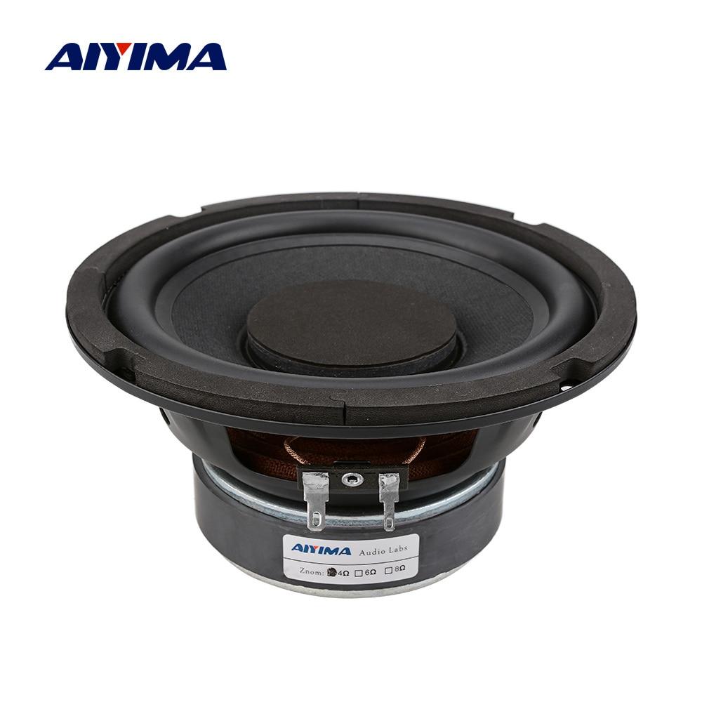 AIYIMA 6,5 Zoll Woofer Audio Lautsprecher High Power Musik DIY Sound Lautsprecher 4 8 Ohm 80 W Spalte Gummi Seite subwoofer Lautsprecher