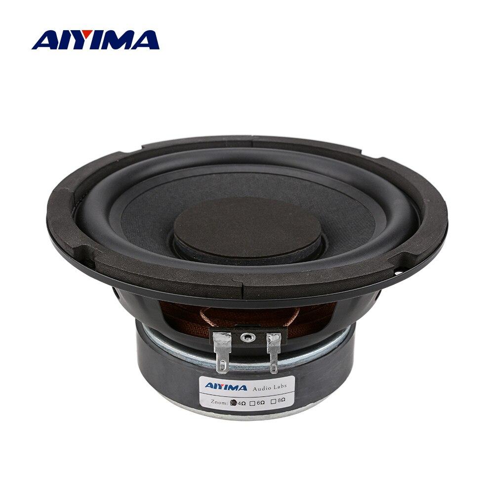 AIYIMA 6,5 дюймов НЧ динамик аудио динамик высокой мощности музыка DIY звук динамик s 4 8 Ом 80 Вт колонка резиновая сторона сабвуфер громкий динамик|Полочные АС|   | АлиЭкспресс