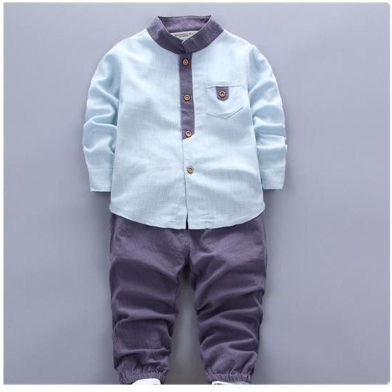 2017 New  Autumn Winter Baby Boys Clothes Sets Long Sleeve Childrens Clothing B0320