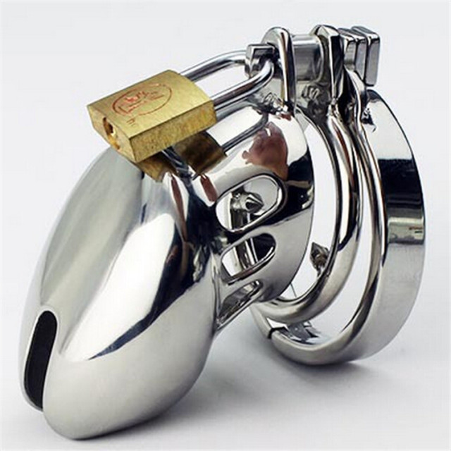 Free Shipping Penis cage Male Chastity device Stainless Steel Adult Cock Cage Metal Chastity Belt With Lock Sex Toys For Men