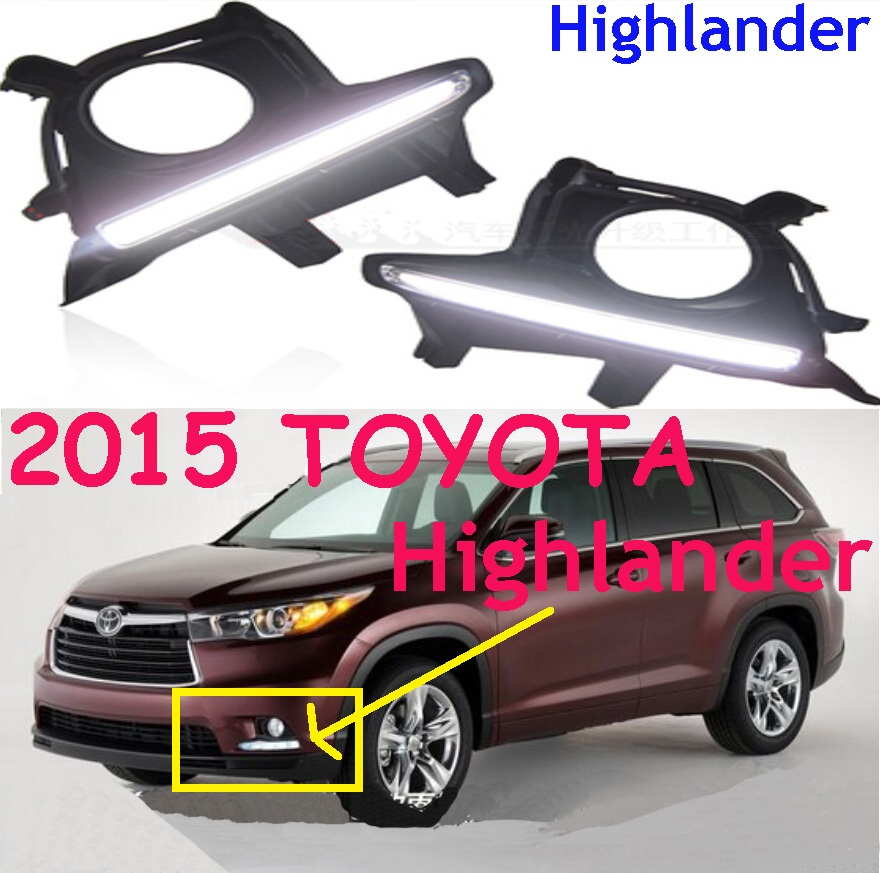 Highlander daytime light,2015~2017;Free ship!LED,Highlander fog light,high lander,steering-wheel,car covers,Highlander car styling highlander daytime light 2012 2014 free ship led chrome 2pcs set highlander fog light car covers highlander