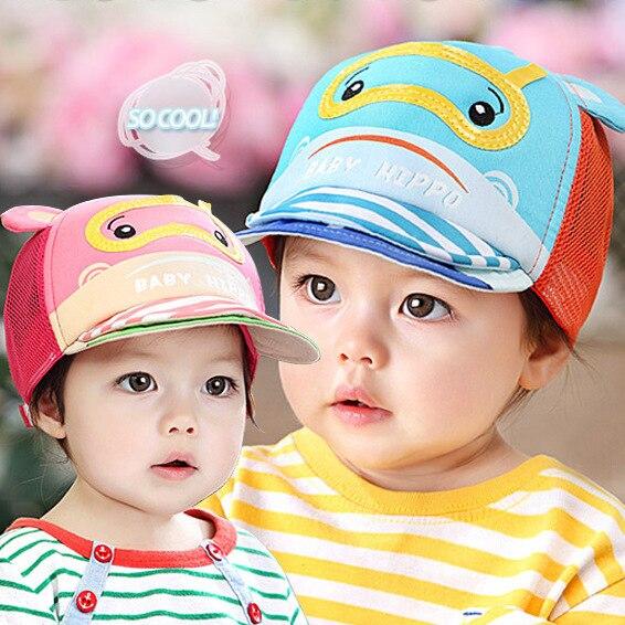 ab398d20fed 2015 New arrival Children summer hat Lovely Cartoon design Infant baby  baseball cap Girl boy Sun hat Free shipping