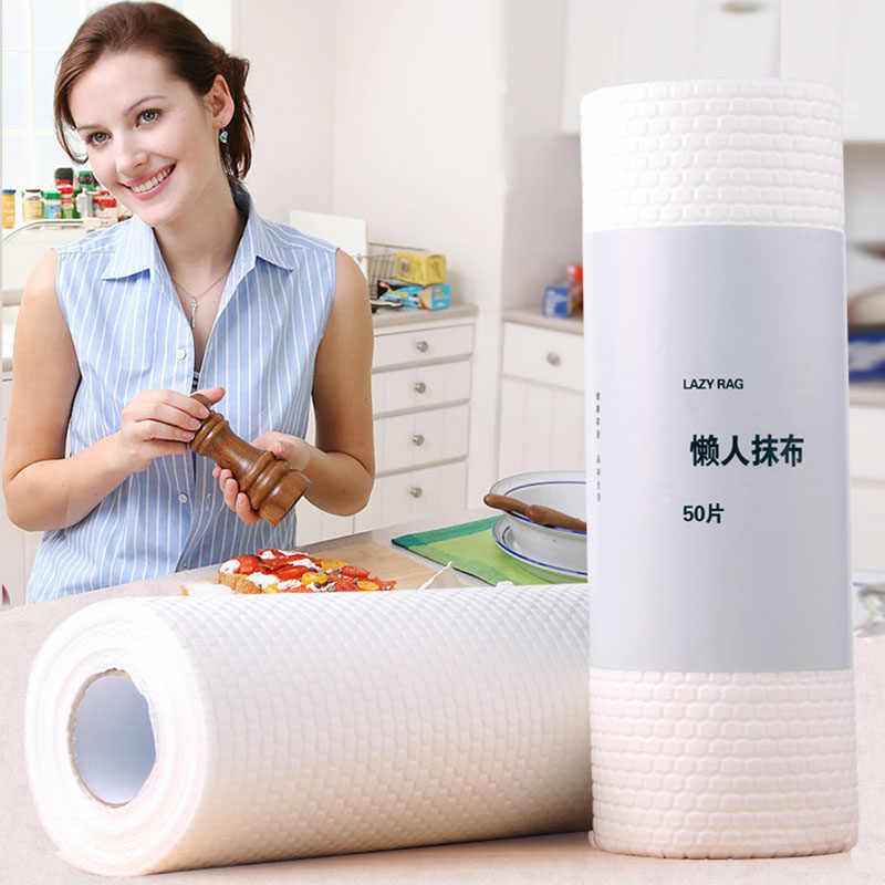 Disposable Rag Wood Pulp Cleaning Cloth