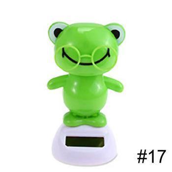 Adorable Solar Powered Dancing Monkey Cat Panda Animal Father Christmas Swinging Animated Bobble Dancer Toy Car Decoration Gift 5