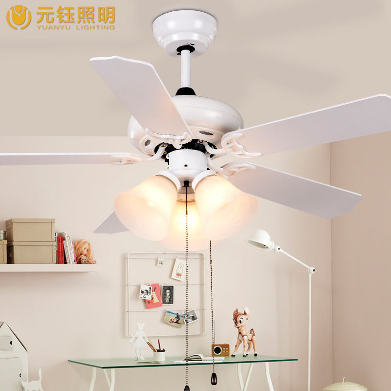 romantic white 42 inches led ceiling fan light with 3