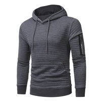 2017 Casual Hoodie Men S Hot Sale Plaid Jacquard Zipper Hoodies Fashion Military Hoody Style Long