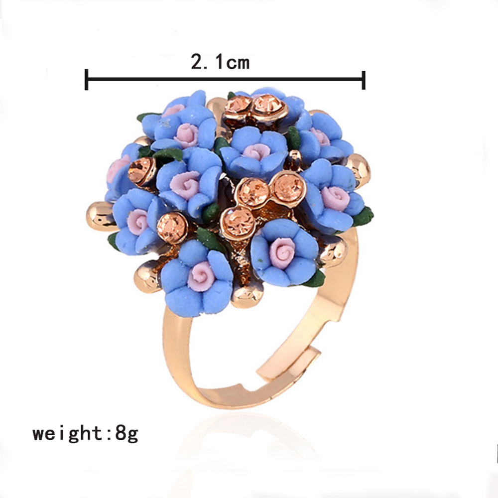 AINAMEISI 2017 Wholesale Jewelry Shiny Multi Color Flower Engagement