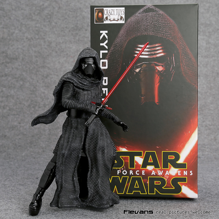 Crazy Toys Star Wars The Force Awakens KYLO REN PVC Action Figure Collectible Model Toy 22cm SWFG088 2016 new 26cm movie the force awakens the black series kylo ren cartoon toy pvc figure model action figures