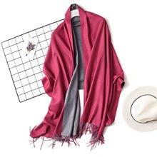 Hirigin 18 Colors Newest Women Lady Cashmere Silk Solid Long Pashmina Shawl Wrap Scarf Cotton Stole