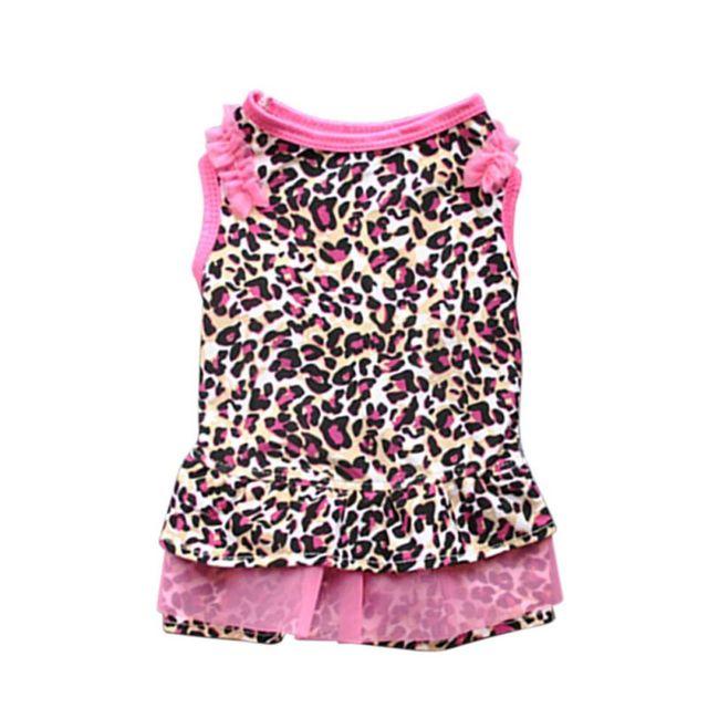 47972de322b4 Leopard Pattern/I Love My Mommy Printed Puppy Dog Cat Shirt Dress Clothes  Pet Costumes Lovely Cute D Supplies Pet Supplies Pets