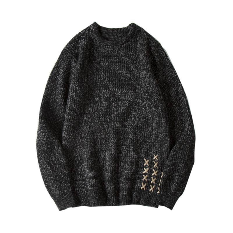 DEKUSI 2018 Autumn New Winter Male Pullover Embroidered Sweater men Keep Warm Knitting G ...