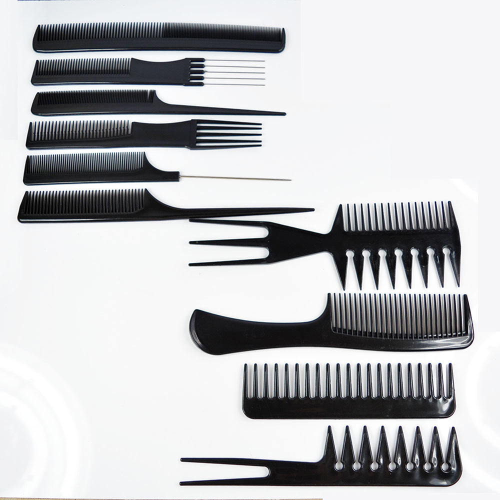 hair styling comb 10pcs set barbers brush comb set black pro salon hair 3449