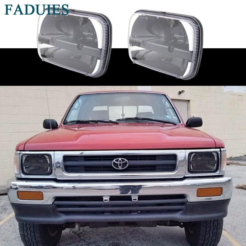 """Прямоугольный грузовик FADUIES 5 """"х 7"""" светодиодные фары дальнего света ближнего света для джип Вранглер ый 1987-96 / 1984-2001 маштаб XJ Чероки"""