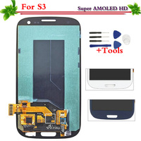 Super AMOLED For Samsung Galaxy S3 i9300 i9305 i535 i747 L710 T999 i9301 LCD Display Touch Screen Digitizer Replacement