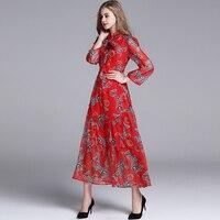 XF manera de la alta calidad 2018 diseñador de moda vestido de verano Beach Party gasa retro cebra bufanda de la impresión vestido rojo