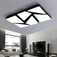 LED modern minimalist rectangular living room ceiling light fashion bedroom light dimming restaurant ceiling lamps za ZL485