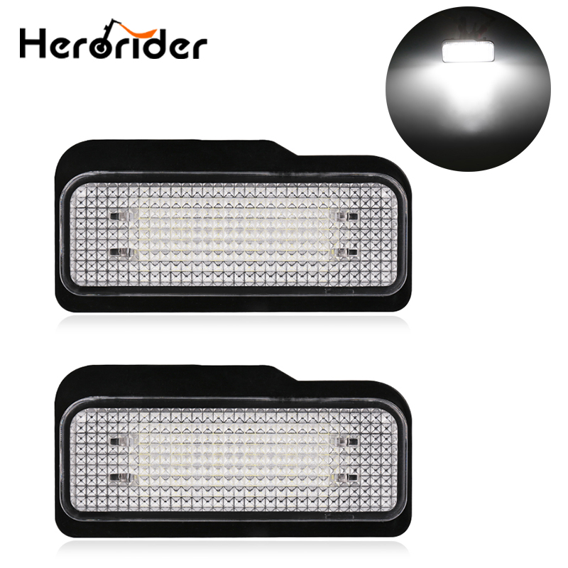 2PCS For Mercedes W211 4D W203 5D W219 R171 2D 12V Car LED License Plate Light No Error Canbus for Benz White Number Plate lamp direct fit for kia sportage 11 15 led number license plate light lamps 18 smd high quality canbus no error car lights lamp page 5