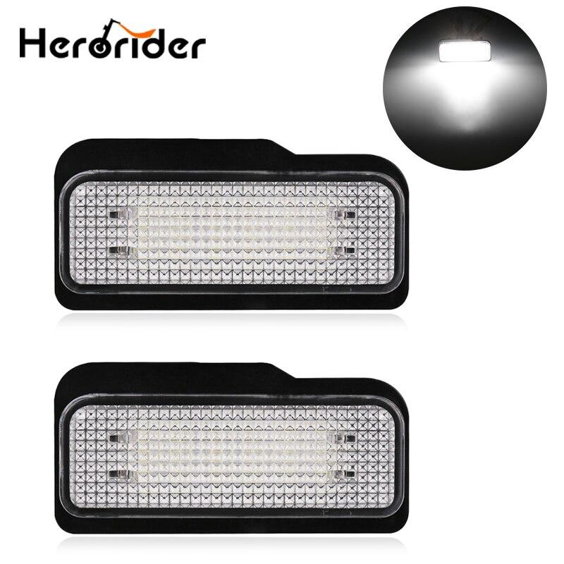 2 PCS Pour Mercedes W211 4D W203 5D W219 R171 2D 12 V De Voiture Licence LED Plaque Lumière Pas D'erreur Canbus pour Benz Blanc Nombre Plaque lampe