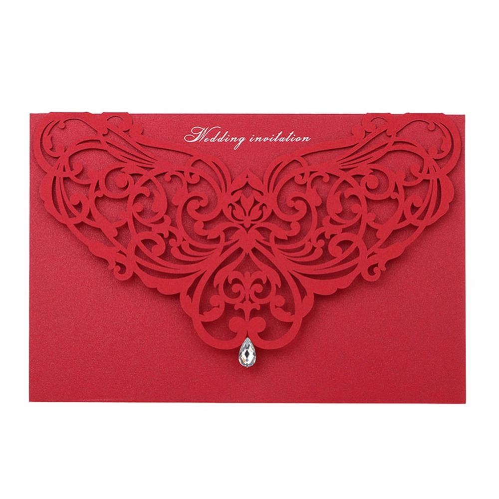 100pcs/lotvery hot sale style wedding invitation card birthday ...