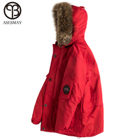 Asesmay 2018 New Arrival Men Coat Winter Wellensteyn Down Jacket Goose Feather Pocketable Thick White Duck Down Military Parkas