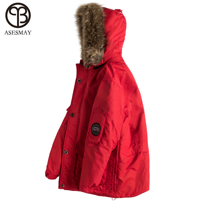 Asesmay 2019 New Arrival Men Coat Winter Wellensteyn Down Jacket Goose Feather Pocketable Thick White Duck Down Military Parkas