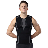 Men S Fitness Vest Bodybuilding Elastic Breathable Sleeveless Shirt Tops Muscle Brand Clothing Casual Undershirts Male