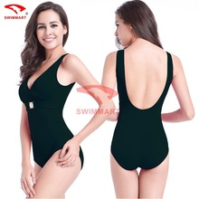Large Size One Piece Swimsuit 2017 Sexy Swimwear Women Bathing Suit Swim Summer Beach Wear Monokini V Collar High Waist Swimsuit niumo new woman one piece swimsuit sexy large size small chest gather swimwear hot springs swim beach vacation