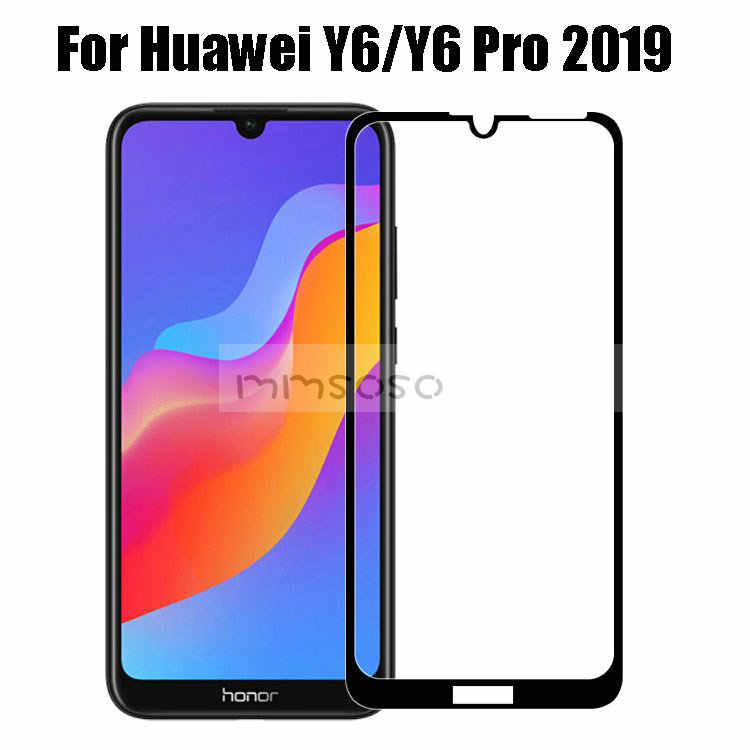 3D Tempered Glass For Huawei Y6 Pro 2019 Screen Protector For Huawei Y6 2019 Glass Full Cover Protective Film 6.09 Y6 Pro 2019