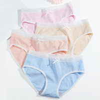 LANGSHA 4Pcs/lot Women Panties Cute Bow Cotton Underwear Comfort Seamless Briefs Soft Breathable Girls Slimming Panty Size XXL women's panties