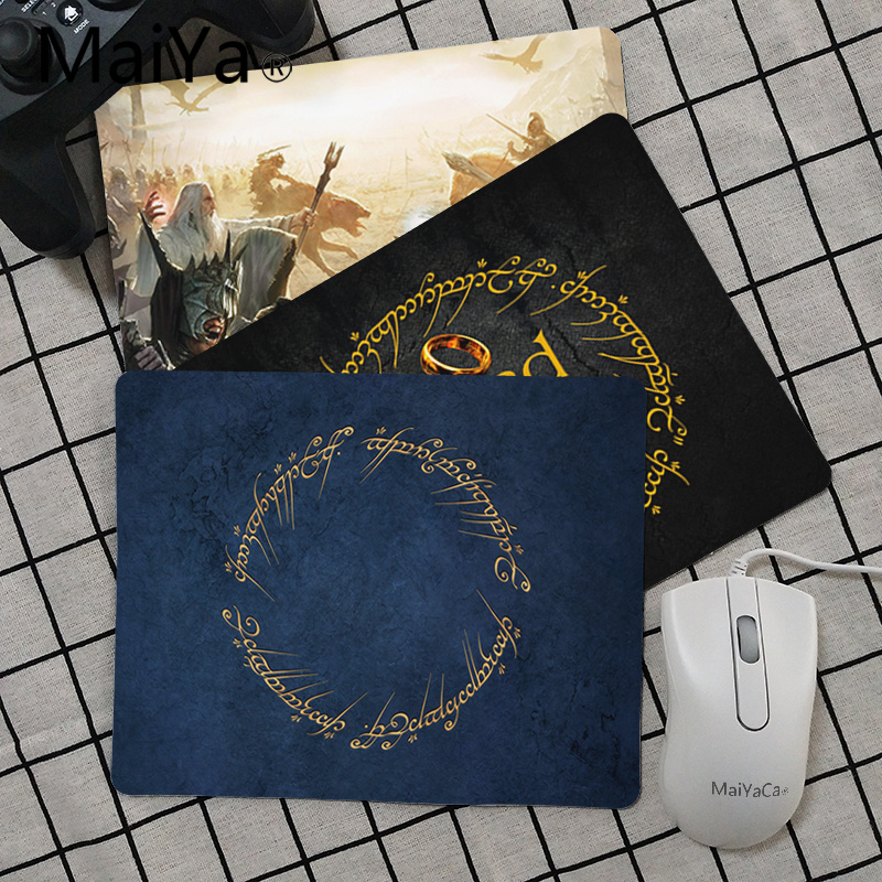 Maiya High Quality The Lord Of The Rings Anti-Slip Durable Silicone Computermats Smooth Writing Pad Desktops Mate Mouse Pad