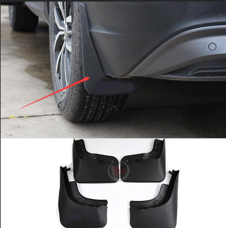 case for Volkswagen Tiguan 2010 2016 Auto mud flap mud guard auto accessories 4pcs/set car styling free shipping