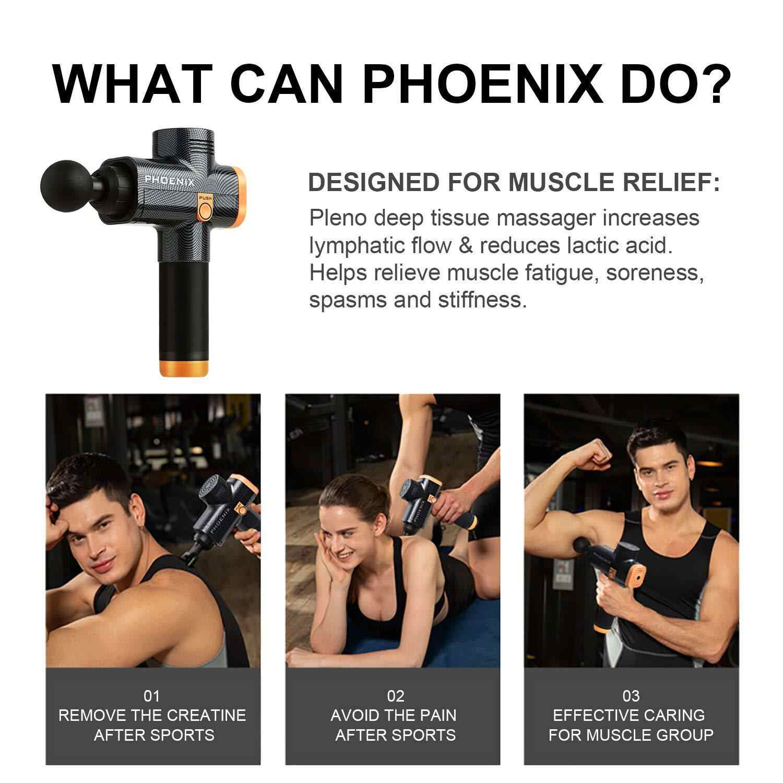 Phoenix A2 Muscle Massage Gun Deep Tissue Massager Therapy Gun Exercising  Muscle Pain Relief Body Shaping    - AliExpress