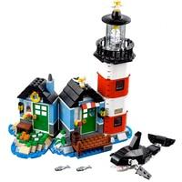 529pcs Fit Legoness Creators 31051 Lighthouse Point Hut Sets Minecraft Style 3 in 1 Figures Building Blocks Toys Kids Xmas Gifs