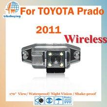 Câmera de estacionamento sem fio reversa / 1/4 visão CCD noite câmera de visão traseira para TOYOTA prado / 170 grau / impermeável
