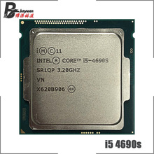 Intel processador quad thread para cpu, processador de i5 4690S ghz quad core intel core 4690 i5 3.2 s 6m 65w lga 1150